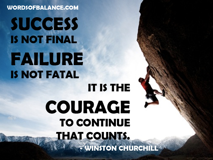 Success Failure Courage